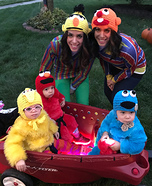 The Sesame Street Gang Homemade Costume