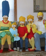 The Simpsons Family Homemade Costume