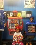 The Snack Machine Family Homemade Costume