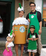 The Starbucks Family Homemade Costume