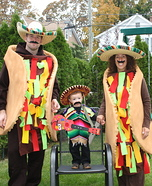 Fun family Halloween costume ideas - The Taco Family Homemade Costume