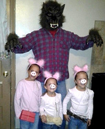 Family costume ideas - The Three Little Pigs and the Big Bad Wolf