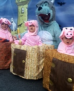 The Three little Pigs and the Big Bad Wolf Homemade Costume