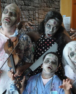 The Undead Violinist and Family Homemade Costume