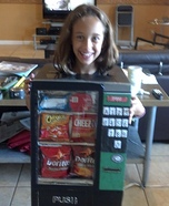 Halloween costume ideas for girls: Vending Machine Homemade Costume