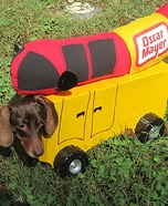 The Wienermobile Dog Costume