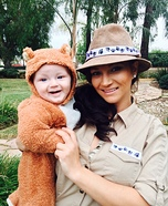 Parent and baby costume ideas - The Zoo Keeper and the Bear Costume