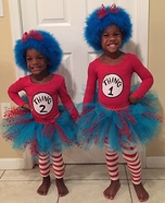 Thing 1 and Thing 2 Homemade Costume