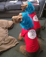 Thing 1 and Thing 2 Dogs Halloween Costume