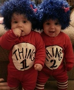 Cutest Halloween costumes for babies - Thing 1 and Thing 2 Twins Costume