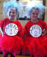 Homemade Thing 1 & Thing 2 Costumes