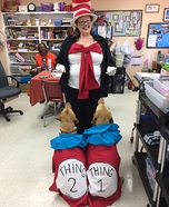 Thing 1 & 2 Dogs Homemade Costume