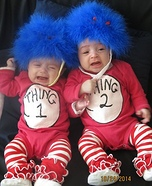 Thing 1 & Thing 2 Homemade Costume