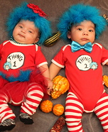 Thing 1 & Thing 2 Twins Homemade Costume