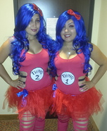 Thing 1 Thing 2 Homemade Costume