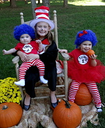Cat in the Hat, Thing 1 and Thing 2 Homemade Costumes