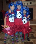 Thing 1, Thing 2, Thing 3 Costumes for Kids