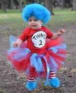Thing 2 Baby Homemade Costume