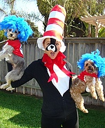 Costume ideas for pets and their owners: Thing One and Thing Two Costume