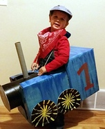 DIY Thomas the Train Conductor Costume