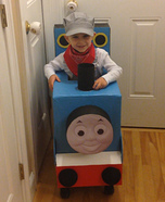 Thomas the Train with Conductor Homemade Costume