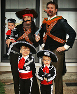 Fun family Halloween costume ideas - Three Amigos Family Homemade Costume