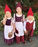 Three Little Gnomes Homemade Costume