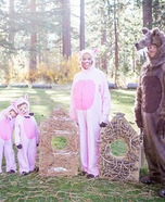 Three Little Pigs and the Big Bad Wolf Homemade Costume