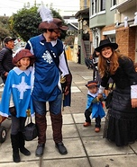 Three Musketeers and Milady Family Costume