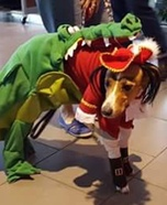Tick Tock Croc chasing Captain Hook Homemade Costume