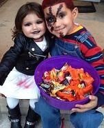 Tiffany and Chucky Homemade Costume