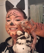 Tiger Iguana Homemade Costume