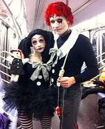 Coolest couples Halloween costumes - Tim Burton Inspired Raggedy Ann & Andy Costume
