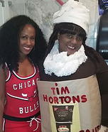 Tim Horton's Cappuccino Homemade Costume