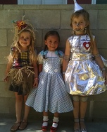 Tin Girl, Scarecrow and Dorothy Homemade Costumes