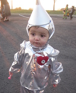 Homemade Tin Man Baby Costume