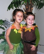 Tinkerbell and Peter Pan Homemade Costume