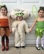 Tinkerbell, Fawn and the Neverbeast Homemade Costume