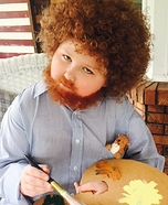 Tiny Bob Ross Homemade Costume