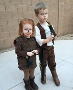 Tiny Chewbacca and Han Solo Homemade Costume