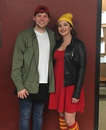 TJ and Spinelli Homemade Costume