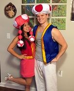 Toad and Toadette Homemade Costume
