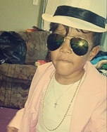Toddler Bruno Mars Homemade Costume