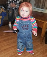 Toddler Chucky Homemade Costume