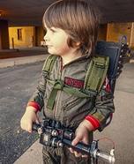 Toddler Ghostbuster Homemade Costume