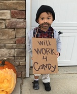 Toddler Hobo Homemade Costume