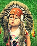 Toddler Indian Homemade Costume
