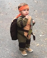Toddler Ninja Turtle Homemade Costume
