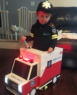 Toddler Paramedic and Ambulance Homemade Costume