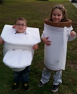Toilet and Toilet Paper Homemade Costume